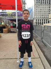 Bryce Hargrove, 9 of Smyrna, prepared to run a 10K for the first time Sunday in the Music City Half Marathon