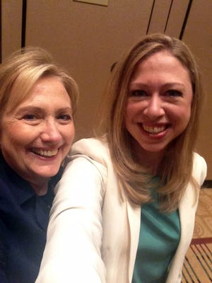 Chelsea Clinton and her mother, former Secretary of State Hillary Rodham Clinton, at a Clinton Global Initiative America event in Chicago on June 14, 2013.
