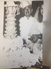 A vintage photo of the chef at country music legend