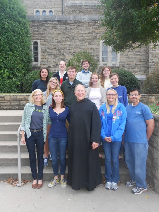 Louisiana Tech Students with Brother Francis.jpg