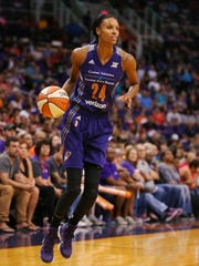 """On her possible return from maternal leave, DeWanner Bonner said, """"I miss Phoenix a lot. It's always been my goal to get back as soon as I can."""""""