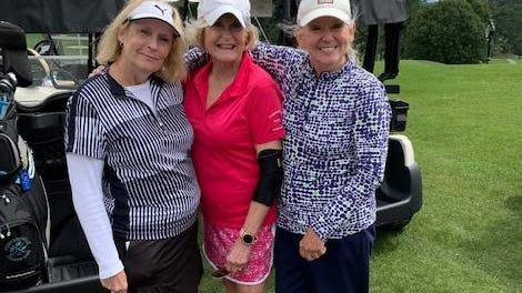 Hendersonville Country Club's Women's Golf Association held Ironing Day last week. From left to right are the winning team members: Laurie Barone, Linda Cox and Margaret Arnold.