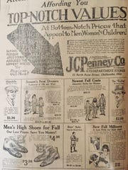 This J.C.Penney Co. ad ran in the newspaper on Monday,
