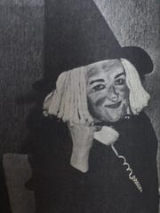 Linda Cowan was decked out in her Halloween best as she worked on a Monday in 1983 in the Morganfield National Bank's Trust Department as a bookkeeper.