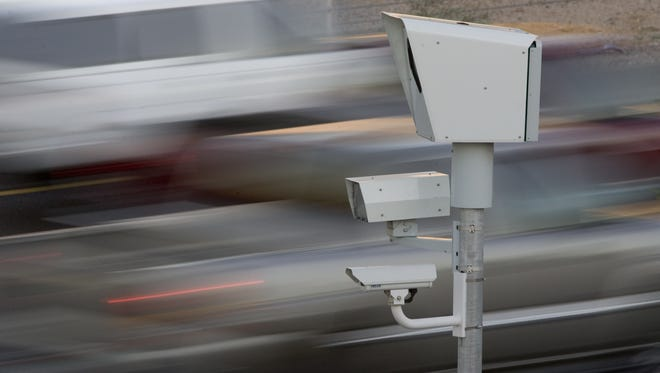 A photo radar speed-enforcement camera in Scottsdale, similar to those in El Mirage.