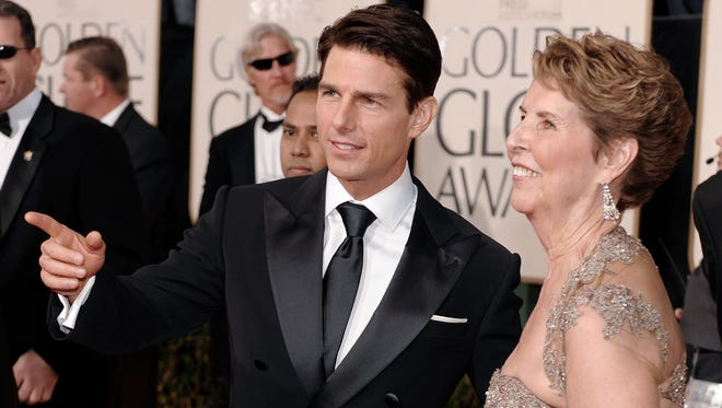 Tom Cruise, and his mother  Mary Lee Mapother South, at the Golden Globe Awards on Jan. 11, 2009, in Beverly Hills.