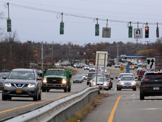 Cars travel along Route 9 in FishKill on Nov. 21, 2016.