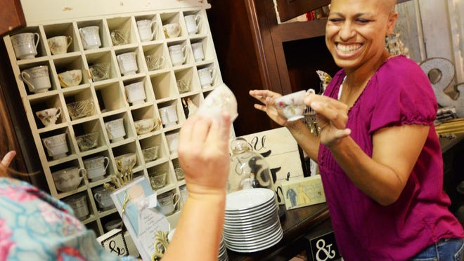 LaTonia Barto has fun shopping at Vintage Rental Boutique. LaTonia Barto is struggling with her fourth bout of cancer, because of donations from friends in the community she is planning a dream wedding to re-marry Joey Barto.