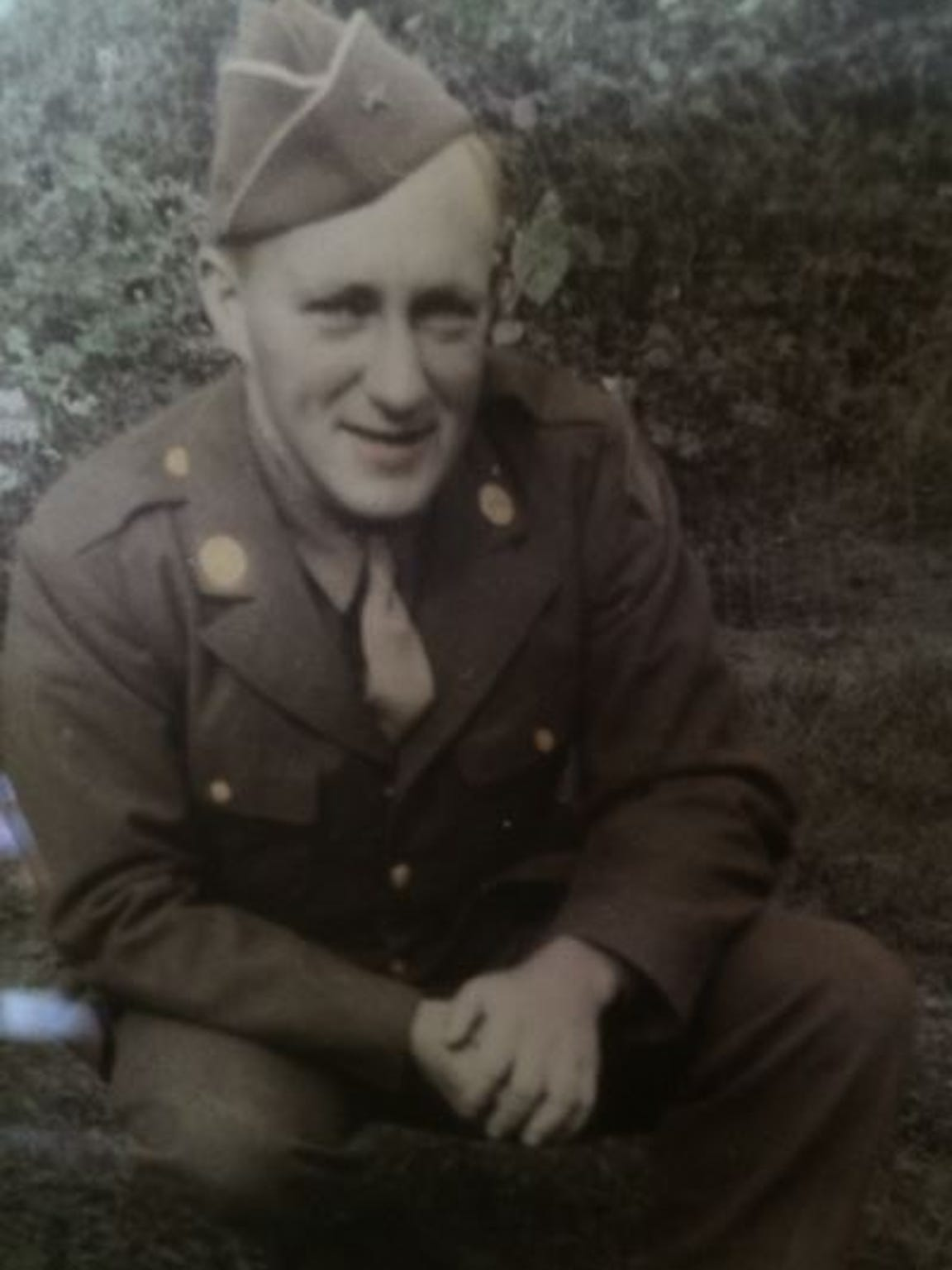 Wayne Clark likely posed for this snapshot in his uniform