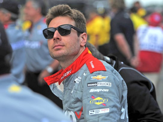 Will Power gets ready during qualifying for the Indianapolis