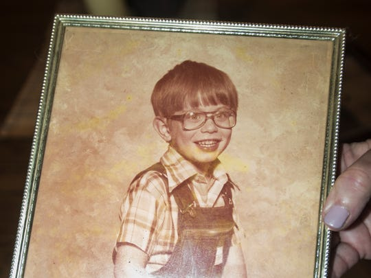 A childhood photo of trombone player Chad Fisher of Deatsville, who is a member of Saint Paul and The Broken Bones.