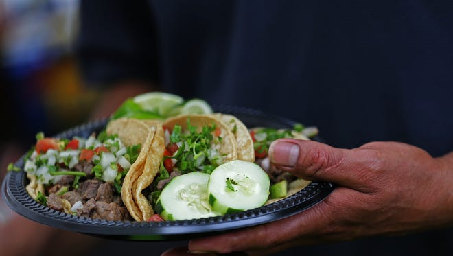 These authentic carne asada tacos with were served at the the 2015 Familia Fest at Military Park. Sample more authentic tacos at Indy Taco Fest 2 to 9 p.m. Feb. 12 at Indiana Discount Mall in Indianapolis. Another taco fest is coming this summer to Pan American Pavilion in Downtown Indy.
