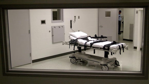 The death chamber at Holman Correctional Facility on
