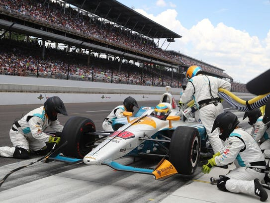 Gabby Chaves was the Indianapolis 500 rookie of the
