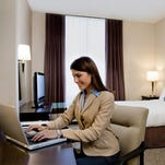 The dispute is over Wi-Fi access in conference rooms, not hotel rooms.