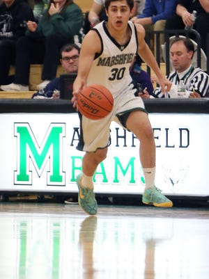 Bobby Perette , who starred at Marshfield High and then recovered from a painful start to finish with a strong basketball career at Anna Maria College, is a finalist for the inaugural Great Northeast Athletic Conference Man of the Year Award. Wicked Local Photo by Mark Gardner