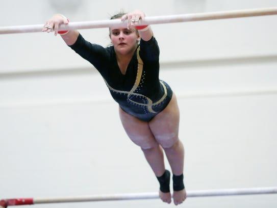 Lakeland/Panas' Caitlin Pellegrino  competes on the