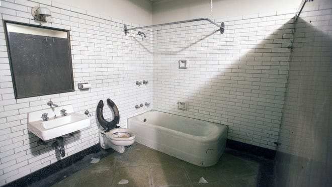 A bath room in women's comfort station under Continental Square in York Wednesday April 23, 2014.  Paul Kuehnel - Daily Record/Sunday News