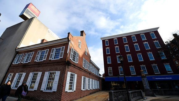The Golden Swan Tavern, seen from the square in York, which dates back to the early 1800's, Tuesday, February 10, 2015. The building is for sale. Kate Penn -- Daily Record/Sunday News
