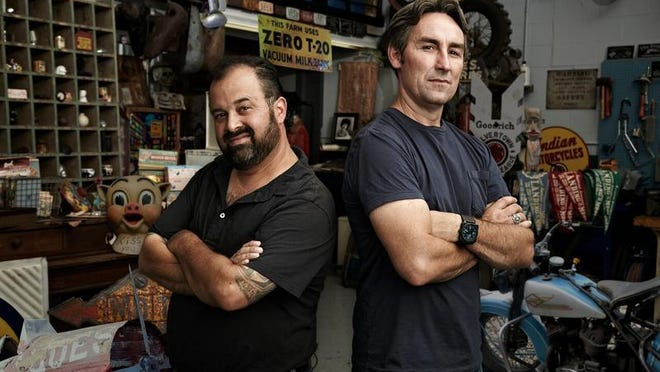 """""""American Pickers"""" stars Frank Fritz and Mike Wolfe on the hunt for treasure."""