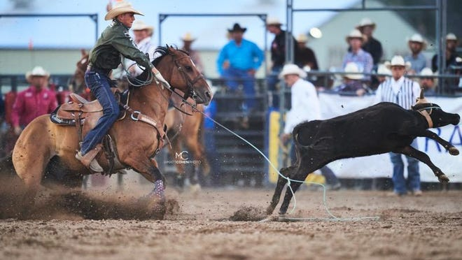 Paden Bray in a previous roping event.