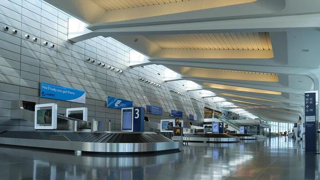 The terminal at Dwight D. Eisenhower Airport in Wichita sits mostly empty as the coronavirus dramatically decreases travel.