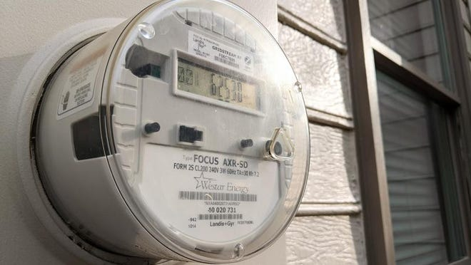 An electric utility smart meter.