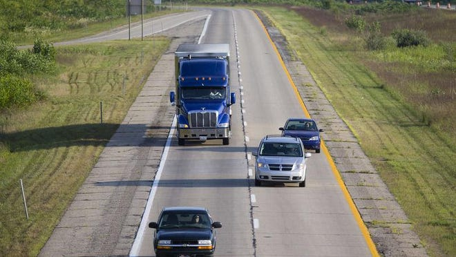 Traffic heads north on U.S. 31 near Walton Road in Michigan. After being on hold for decades, an MDOT project to connect U.S. 31 to I-94 near Benton Harbor is underway.