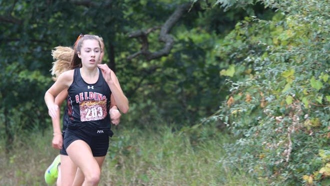 Belding's Julia Finley qualified for the state cross country finals at Michigan International Speedway.