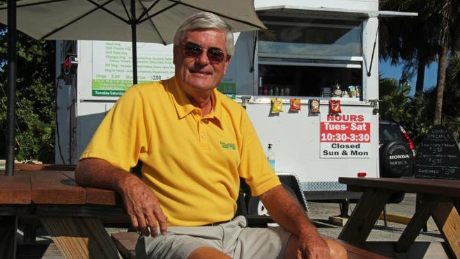 Bruce Schwabl is the owner of Juicy Dogs at Canova Beach Park in Indian Harbour Beach.