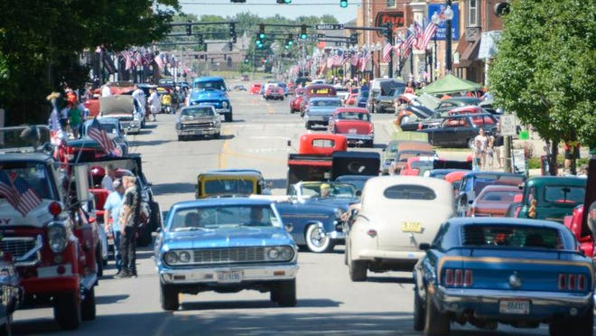 The 23rd annual Graffiti Car Show filled nearly all of downtown Bucyrus. Hundreds of cars and thousands of people turn out each year for the event, now known as Cruisin' with the Cops. This year's event is Saturday.