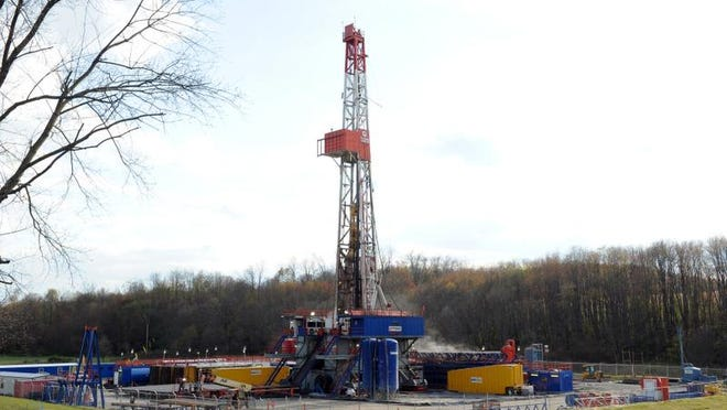 A fracking well site in Carroll County, Ohio.