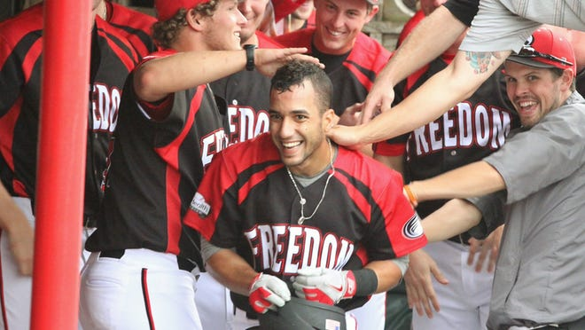 Florida resident Rolando Gomez came to the Florence Freedom in 2014 and felt welcomed by his team as well as by his host Dave Brown.