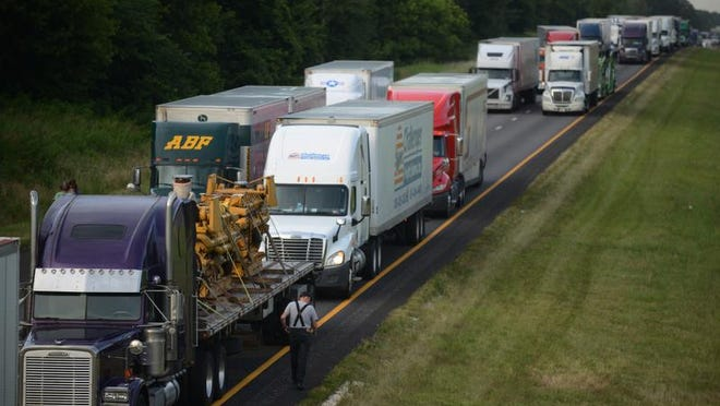 File photo of traffic on Interstate 40.