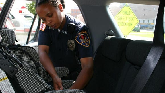 Nationally Certified Child Passenger Safety Technicians go through an intense four-day training course to prepare for proper car seat installation.
