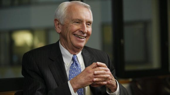 Gov. Steve Beshear, D-Ky., is interviewed by Susan Page for USA TODAY's Capital Download in Washington , Feb. 21, 2014.