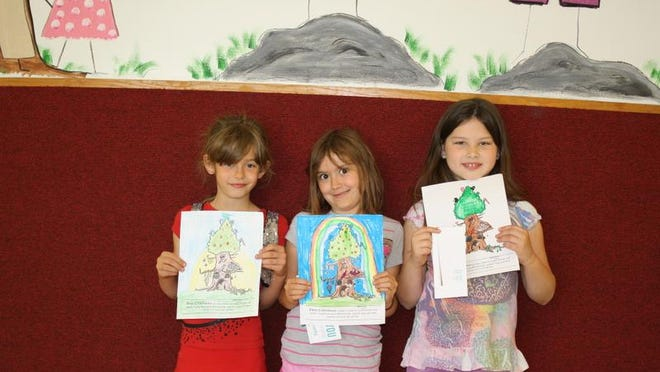 Winners of the Baxter County Conservation District coloring contest from Arrie Goforth Elementary School second grade are (from left) Keely Cantrell, first; Novaley Havens, second and Lillian Wood, third.