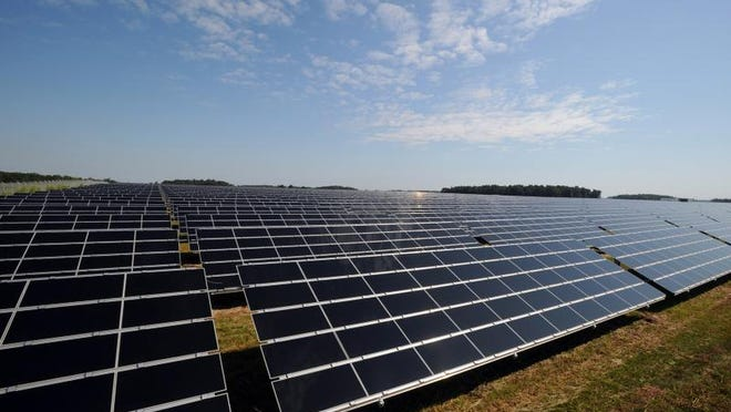 American Electric Power, the parent of Indiana Michigan Power, buys electricity from the 160,000-solar-panel Wyandot Solar facility in Upper Sandusky, Ohio. Photo provided.