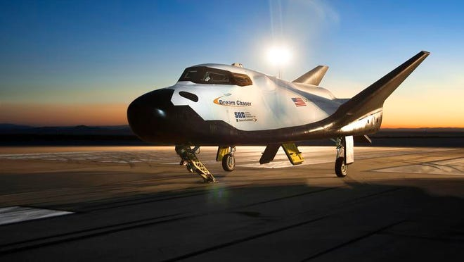 Sierra Nevada Corp.'s Dream Chaser spacecraft undergoes captive-carry flight tests at NASA's Dryden Flight Research Facility.
