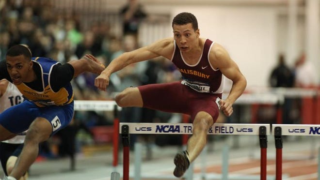 Salisbury University's Luke Campbell won two more Division III Track championship during the outdoor national championships Saturday, May 23, 2015.