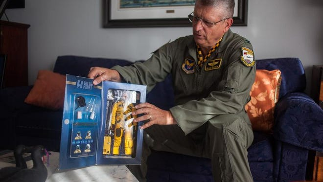 Retired U.S. Air Force Col. Glenn Whicker uses a U-2 pilot doll in this April 2014 file photo to explain how the special pressure suits works. Whicker's career has included over three decades of service as a U-2 pilot, a Pentagon officer and director of the St. George JROTC program for high school students. With the end of the school year, he's hanging up his uniform and planning to enjoy retirement.