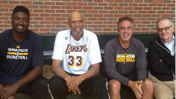 Kareem Abdul-Jabbar continued his mentorship of Pacers center Roy Hibbert.