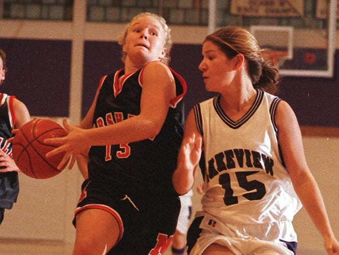 Marshall's Kari (Searles) Jolink was an All-State basketball player who went on to play at Ferris State University and Olivet College.