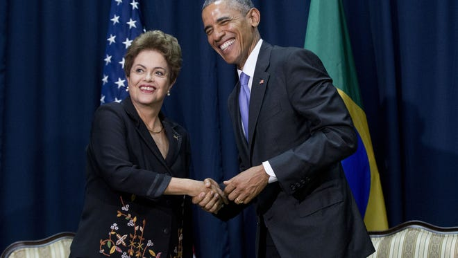President Obama and Brazilian President Dilma Rousseff last year.