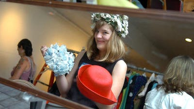 A scene from a costume sale in 2008.