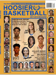 This year's Hoosier Basketball Magazine cover, featuring