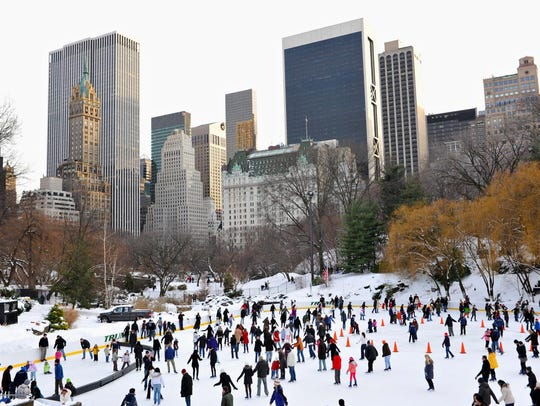Wollman Rink, also known as Trump Rink, draws crowds