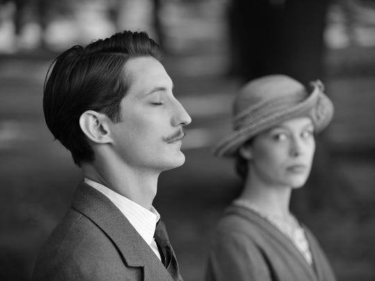 """The Daumier features of Pierre Niney capture the attention of Paula Beer in """"Frantz."""""""