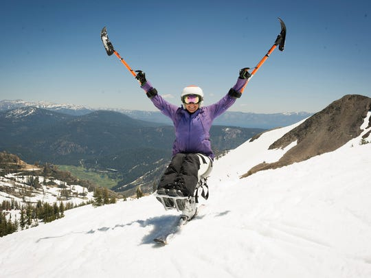 Ricci Kilgore, shown skiing at Squaw Valley, is one of 167 athletes the High Fives Foundation has helped since being formed in 2009.