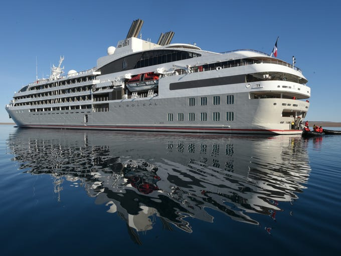 France-based Ponant's 264-passenger Le Soleal was christened
